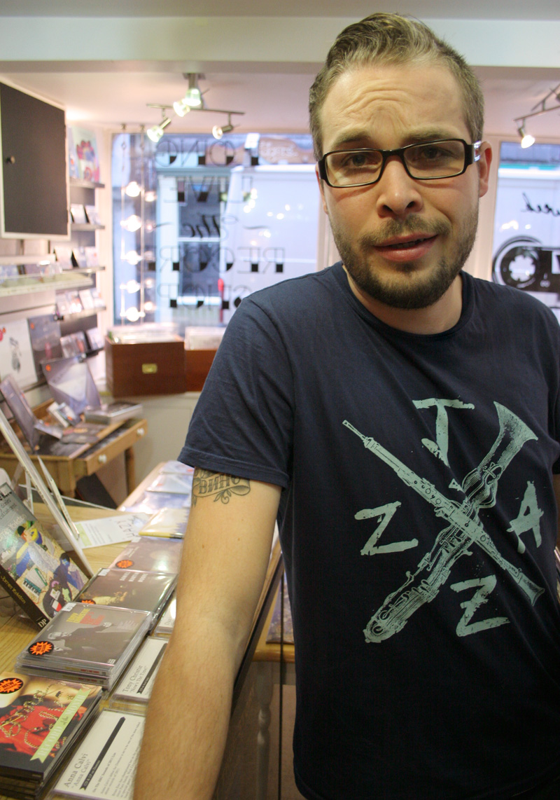 RG in The Drift Record Shop
