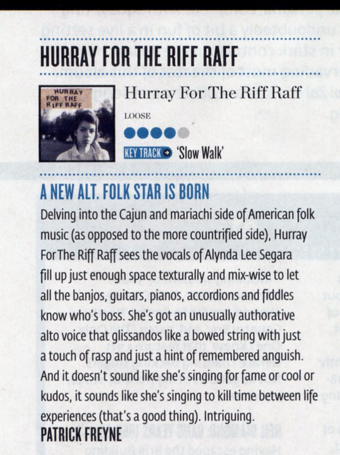 Hot Press - Hurray For The Riff Raff album review