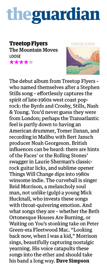 Treetop Flyers - The Mountain Moves - Guardian