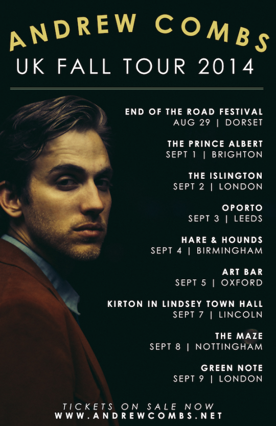 Andrew Combs tour poster 2014