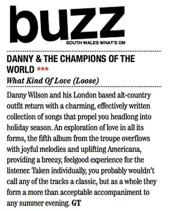 Danny & The Champions - Buzz Magazine - June 15