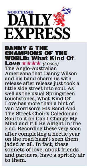 Danny & The Champions - Scottish Daily Express - 5 June 2015