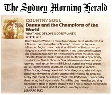 Danny & The Champions - Sydney Morning Herald - June 2015