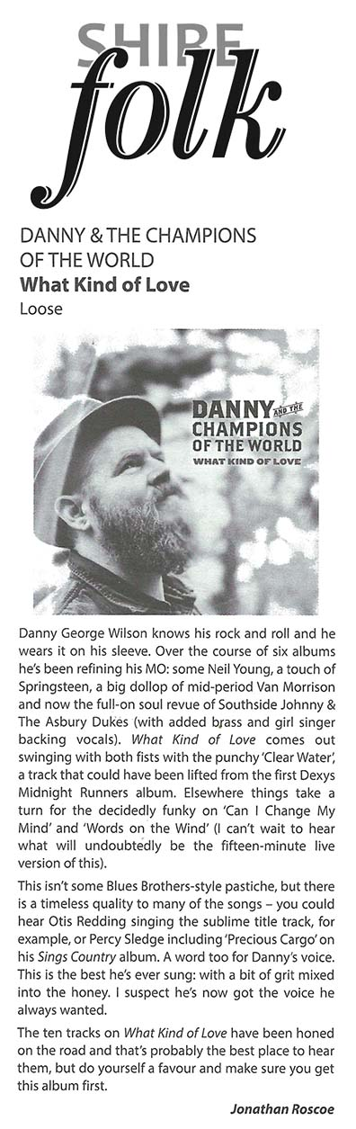 Danny & The Champions - Shire Folk - June2015