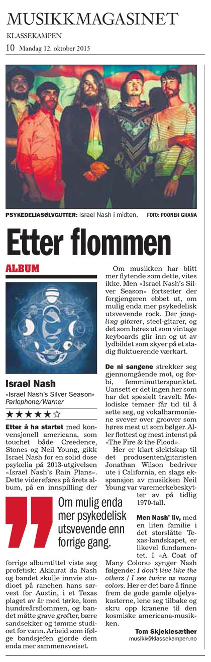 Israel Nash - Musikk Magasinet - 12 Oct 2015
