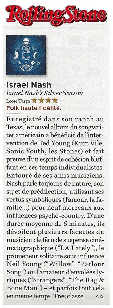 Israel Nash - Rolling Stone France - November 2015