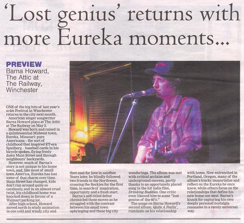 Barna Howard - Winchester Chronicle - April 2016