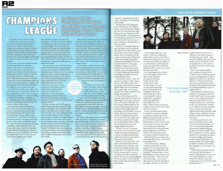 Danny & The Champions - R2  - November 2015