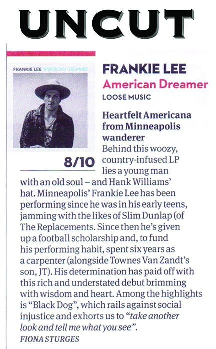 Frankie Lee - Uncut Nov 2015