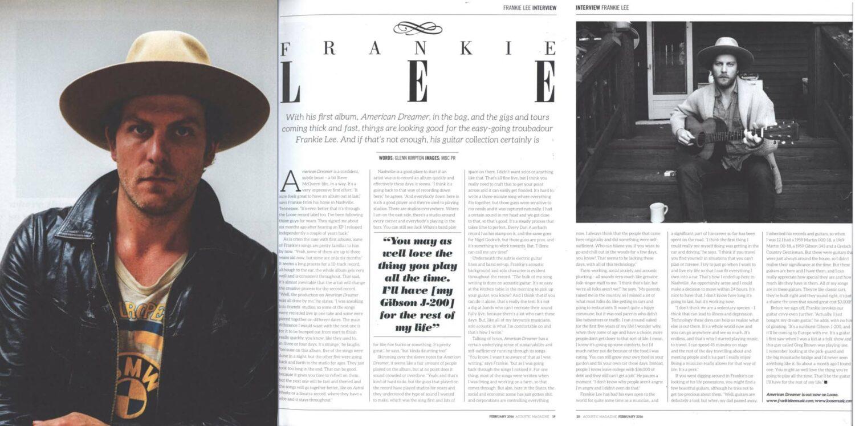 Frankie Lee - Acoustic Magazine - Feb 2016
