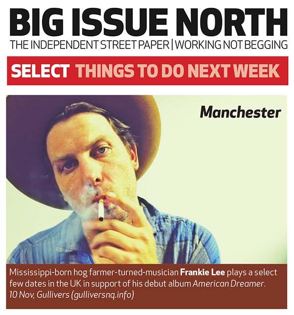 Frankie Lee - Big Issue North preview - Nov 2015