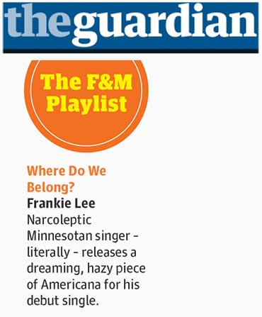 Frankie Lee - The Guardian - 21 July 2015