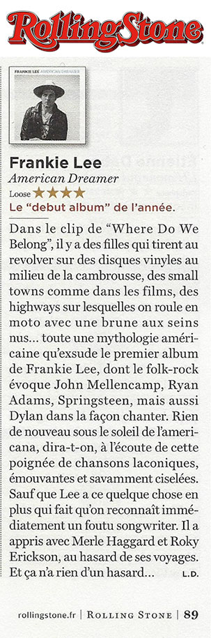Frankie Lee - Rolling Stone France - November 2015