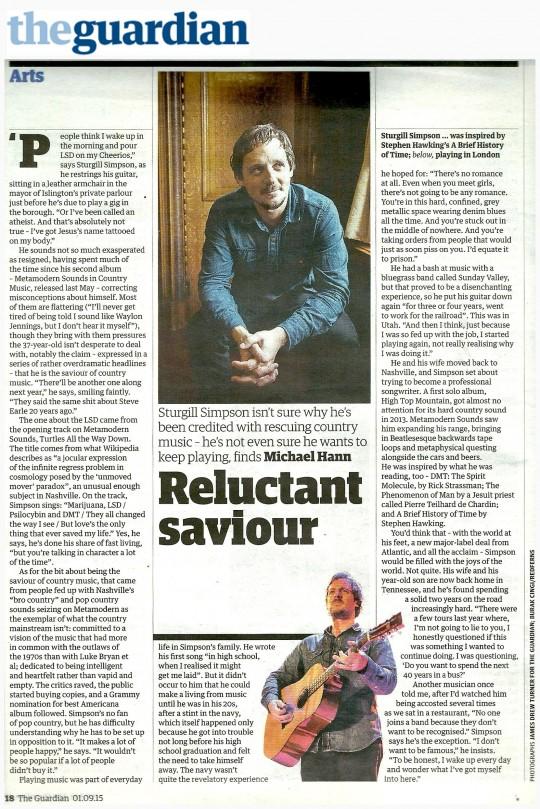 Sturgill - Guardian - 1 Sep 2015