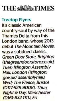 Treetop Flyers - 2013 Nov TheTimes
