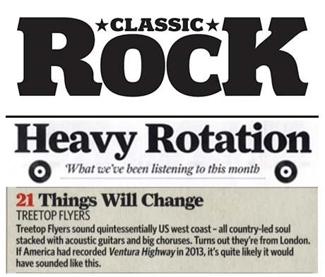 Treetop Flyers - May 2013 Classic Rock