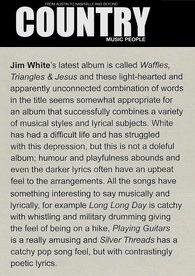 Jim White - Country Music People - Jan 18
