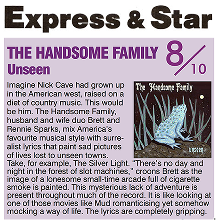 The Handsome Family - Express & Star - September 2016
