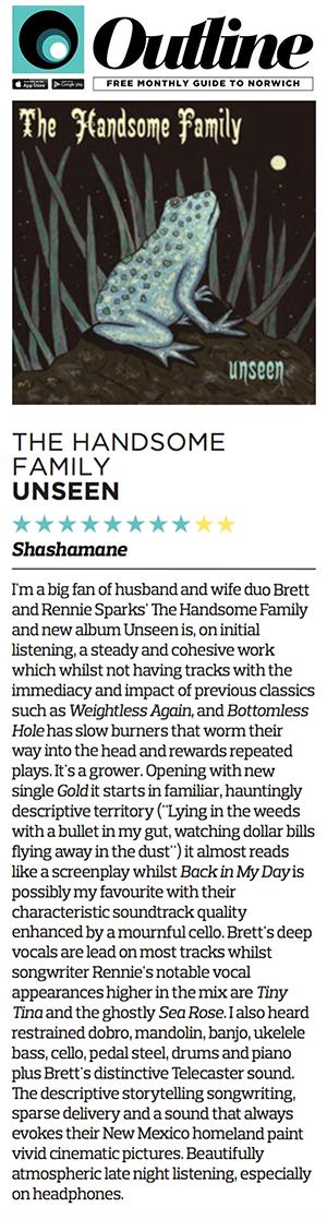 The Handsome Family - Outline Magazine - September 2016