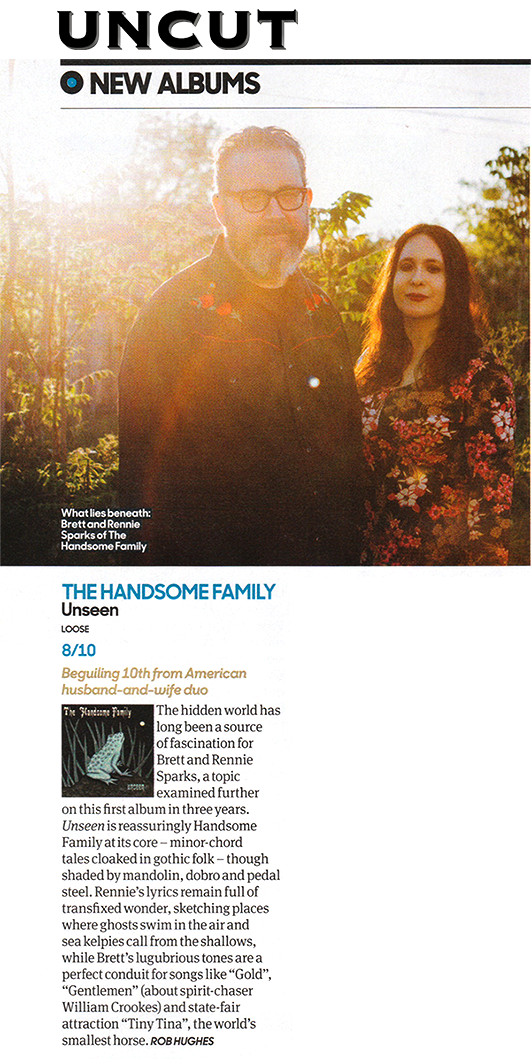 The Handsome Family - Unseen - Uncut - September 2016