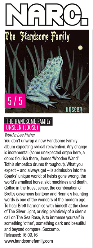 The Handsome Family - Unseen - NARC - September 2016