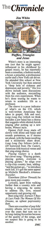 Jim White - Cheshire Chronicle - December 17