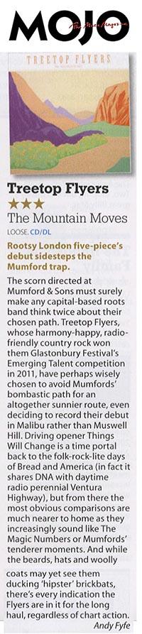 Treetop Flyers - June 2013 Mojo