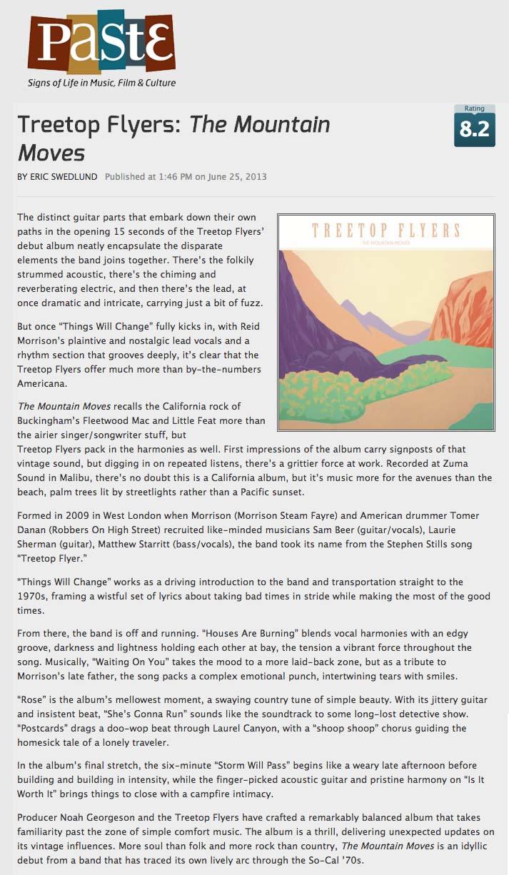 Treetop Flyers - Paste Magazine