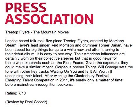 Treetop Flyers - May 2013 Press Association