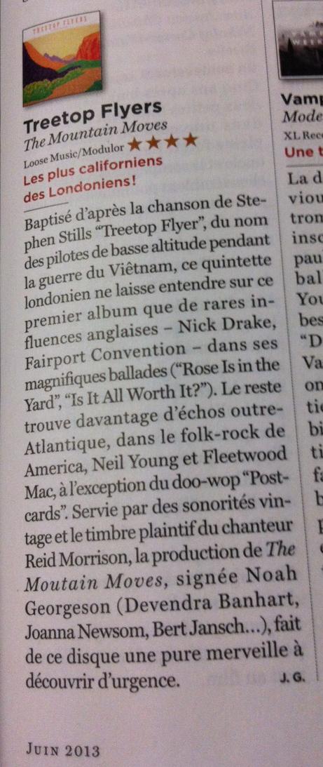 Treetop Flyers - June 2013 Rolling Stone France