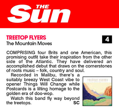 Treetop Flyers - May 2013 The Sun