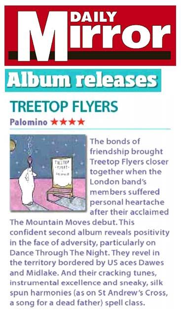 Treetop Flyers - Daily Mirror - 26 February 2016