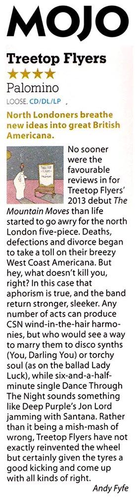 Treetop Flyers - Mojo - March 2016