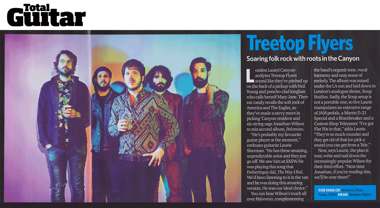 Treetop Flyers - Total Guitar - On The Up - March 2016
