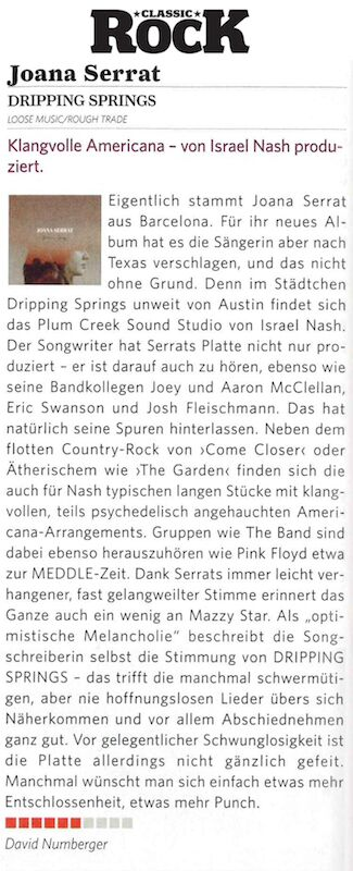 Joana Serrat - Classic Rock - November 2017