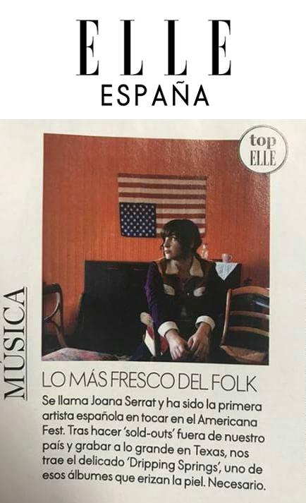 Joana Serrat - Elle Espana - Dec 2017