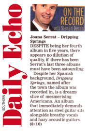 Joana Serrat - Southern Daily Echo - 3 Nov 17