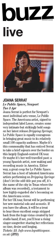 Joana Serrat - Buzz Mag - March 2018