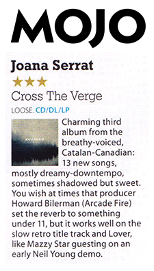 Joana Serrat - Mojo - June 2016