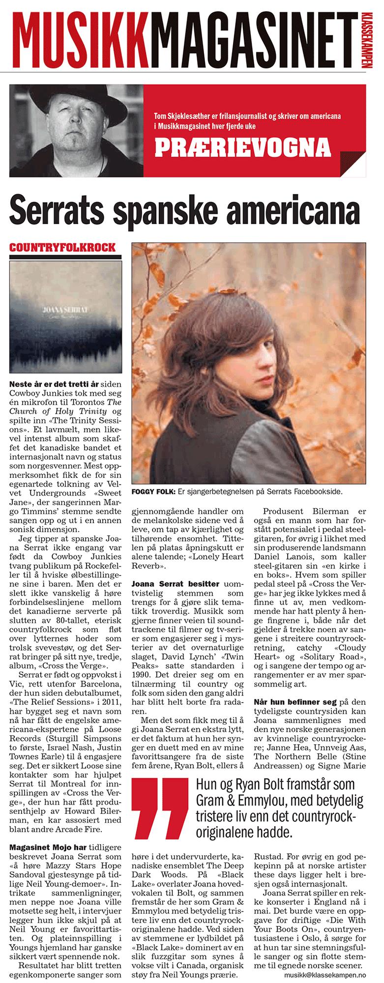 Joana Serrat - Musikk Magasinet - 23 May 2016