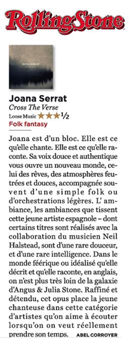Joana Serrat - Rolling Stone France - November 2016