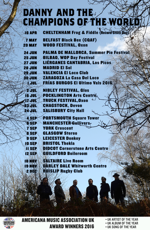 Danny & The Champions Of The World tour dates 2016