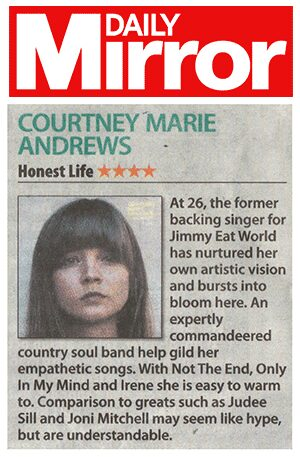 Courtney Marie Andrews - Daily Mirror - 20 Jan 2017