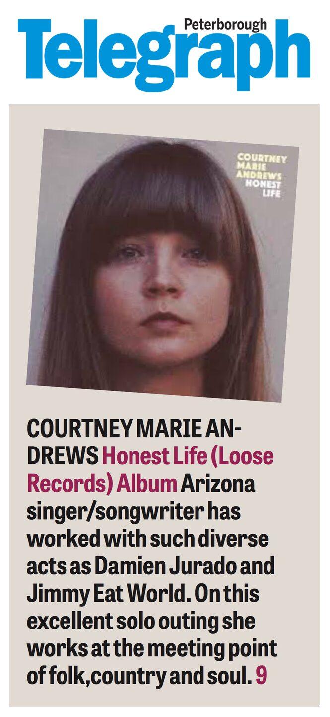 Courtney Marie Andrews - Peterborough Telegraph - Feb 2017