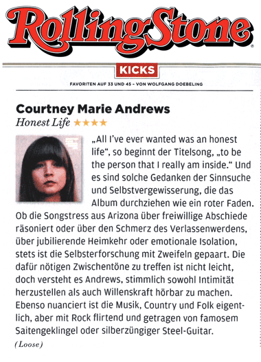 Courtney Marie Andrews - Rolling Stone Germany - Jan 2017