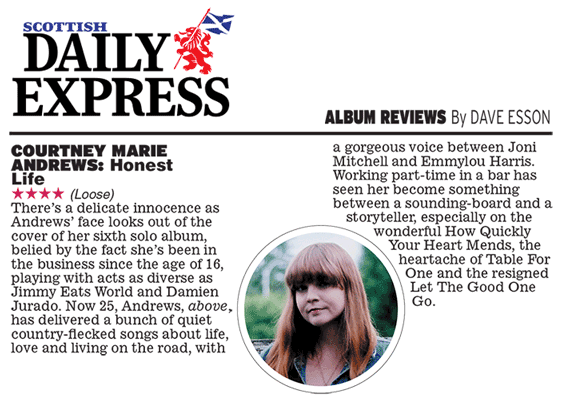 Courtney Marie Andrews - Scottish Daily Express - Sep 2017