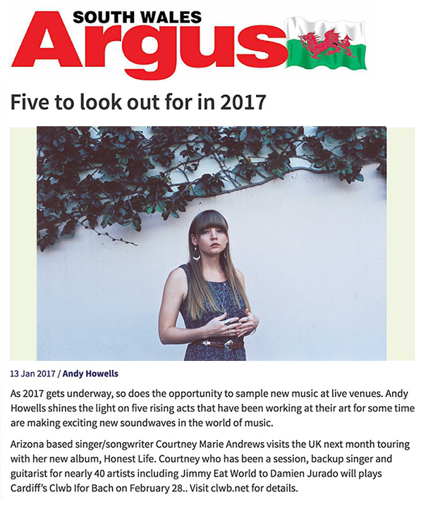 Courtney Marie Andrews -South Wales Argus - 13 Jan 2017