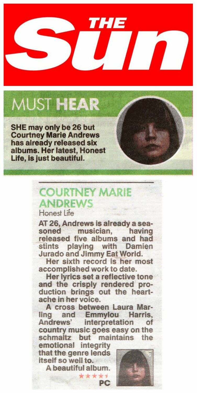 Courtney Marie Andrews -The Sun - 20 Jan 2017