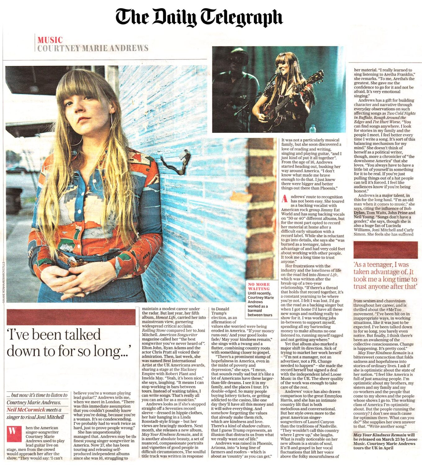 Courtney Marie Andrews - The Daily Telegraph - Feb 18