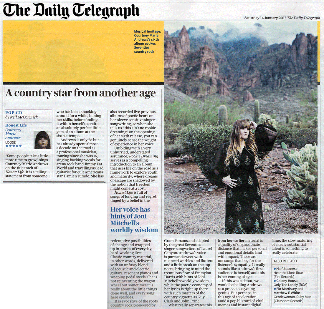 Courtney Marie Andrews - Telegraph - 14 January 2017